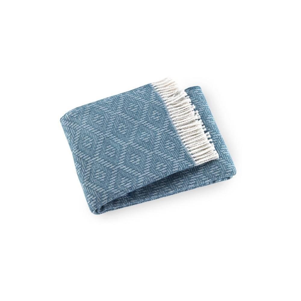 Euromant Pléd vo farbe modrej lagúny s podielom bavlny Euromant Aisha, 140 × 160 cm