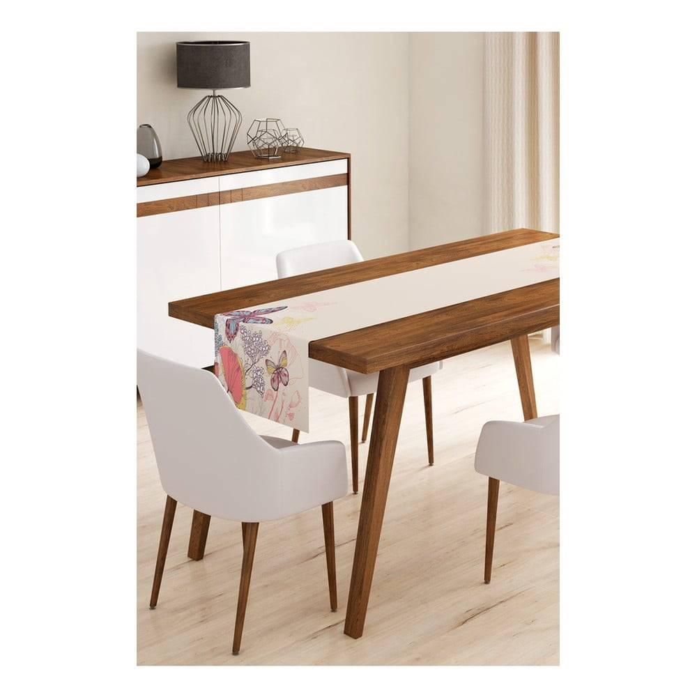 Minimalist Cushion Covers Behúň na stôl z mikrovlákna Minimalist Cushion Covers Butterflies, 45×145 cm