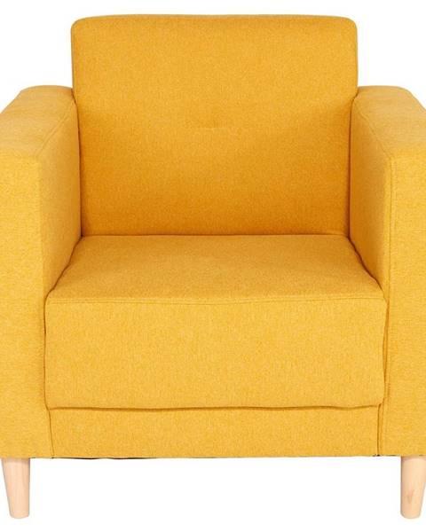 Žlté kreslo Möbelix
