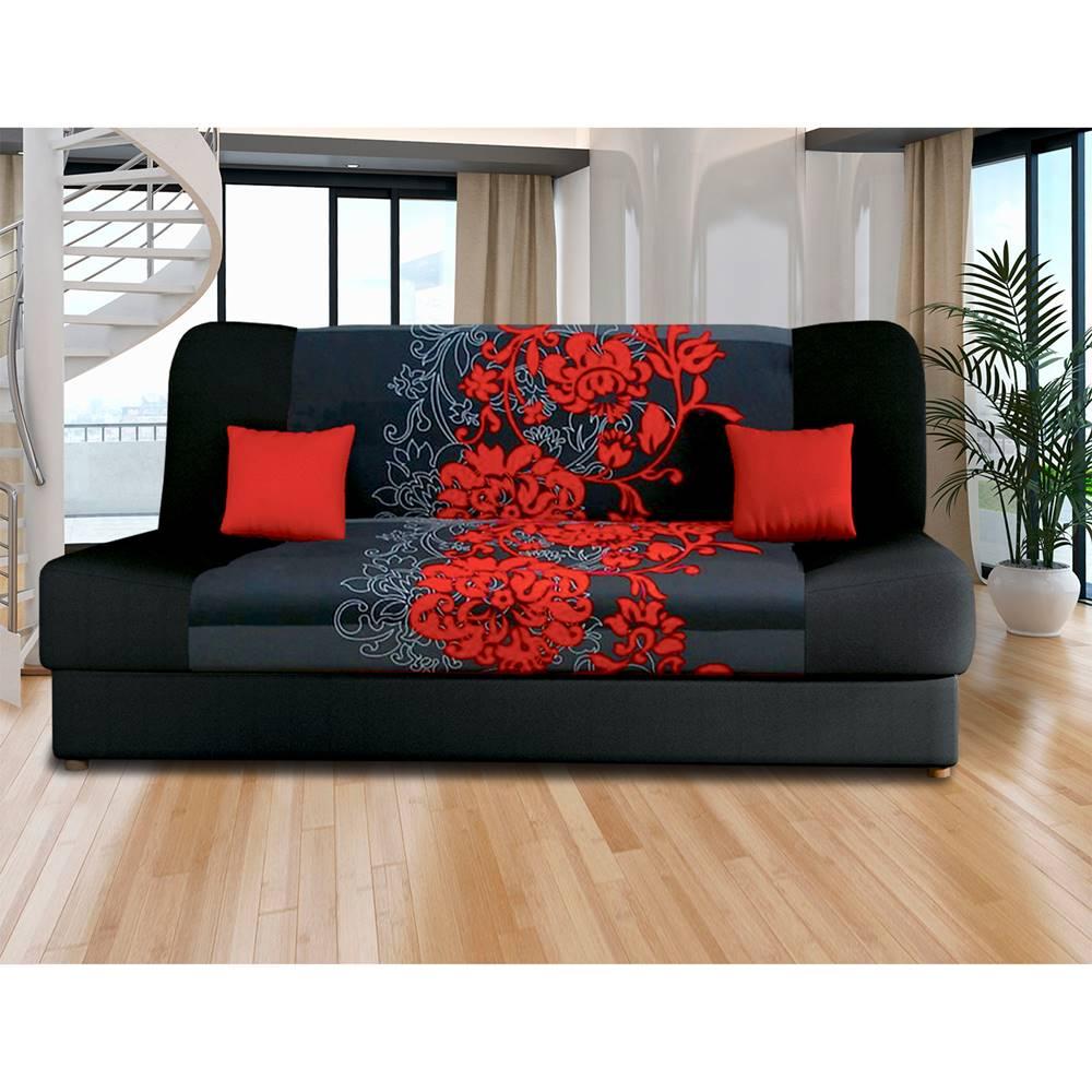 IDEA Nábytok Pohovka VICTORIA červené kvety