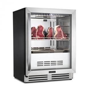 Klarstein SteakhoPro, chladnička na zrenie mäsa, 1 zóna, 98 l, 1 – 25 °C, dotyková, ušľachtilá oceľ