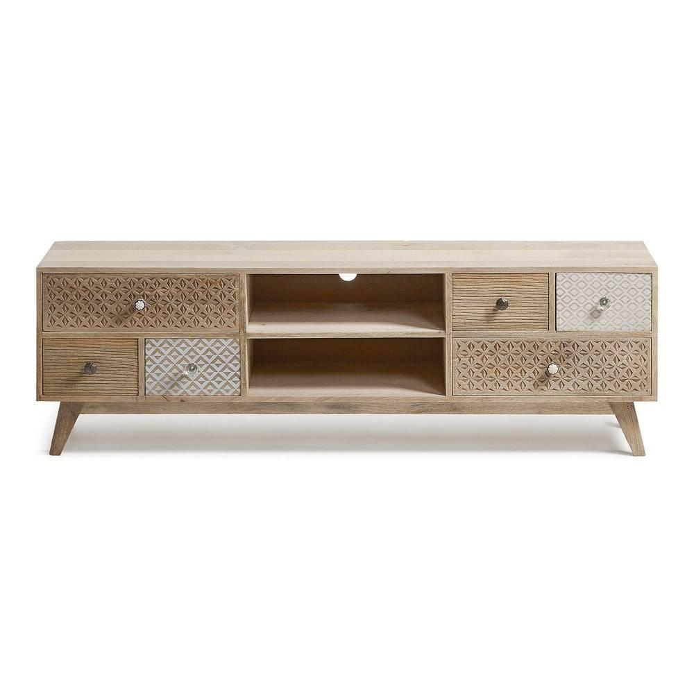 La Forma TV stolík z mangového dreva La Forma Hood
