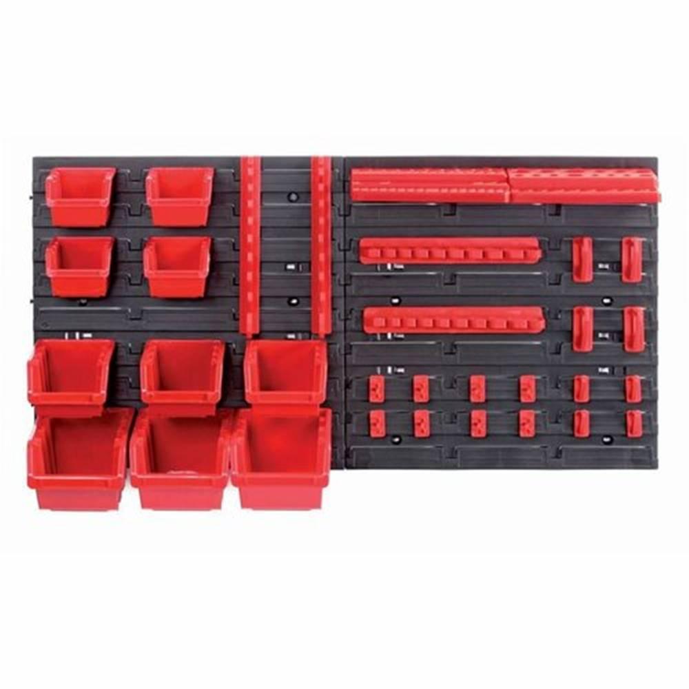 Domarex Závesný panel na náradie s 10 boxmi a 22 držiakmi Orderline, 80 x 16,5 x 40 cm