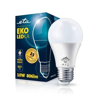 LED žiarovka ETA EKO LEDka klasik 10W, E27, teplá biela