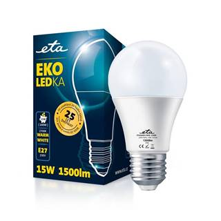 LED žiarovka ETA EKO LEDka klasik 15W, E27, teplá biela