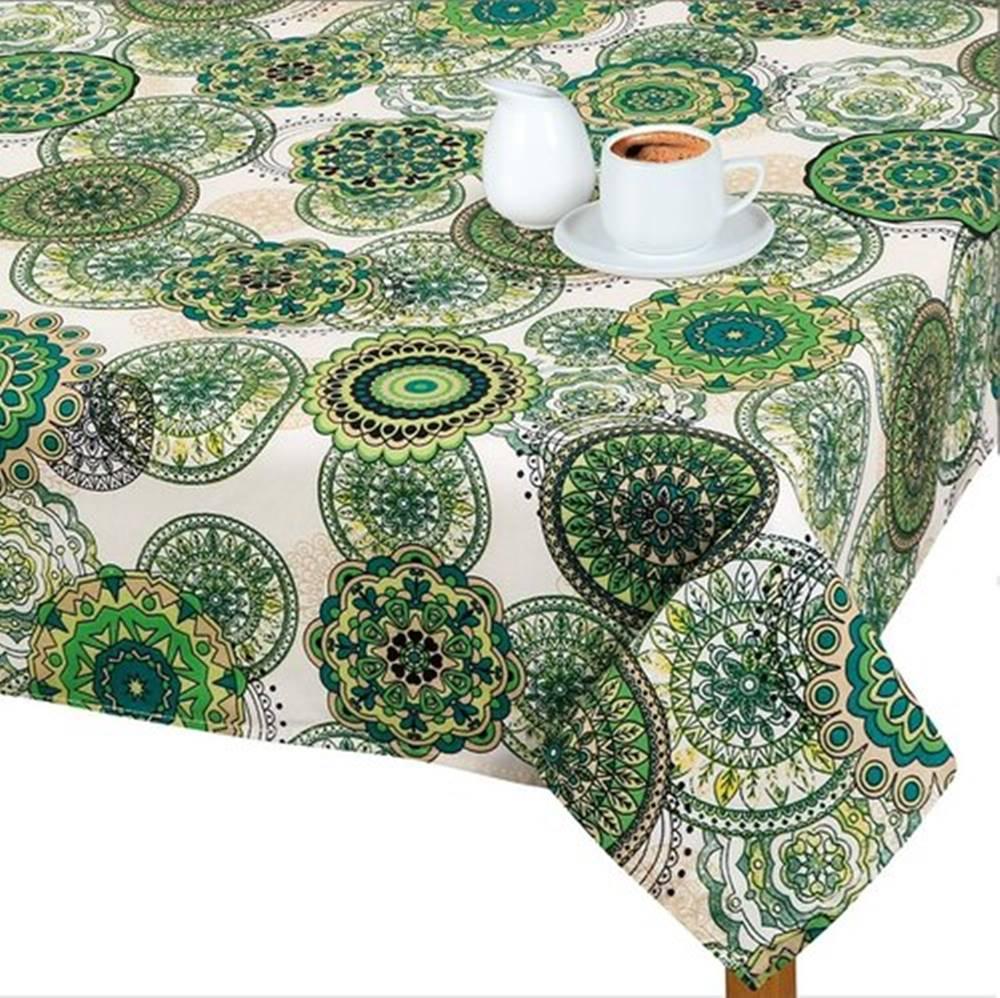 Bellatex Bellatex Obrus Adela Mandala zelená, 120 x 140 cm, 120 x 140 cm