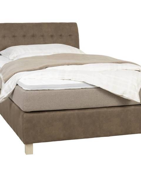 Béžová posteľ Xora