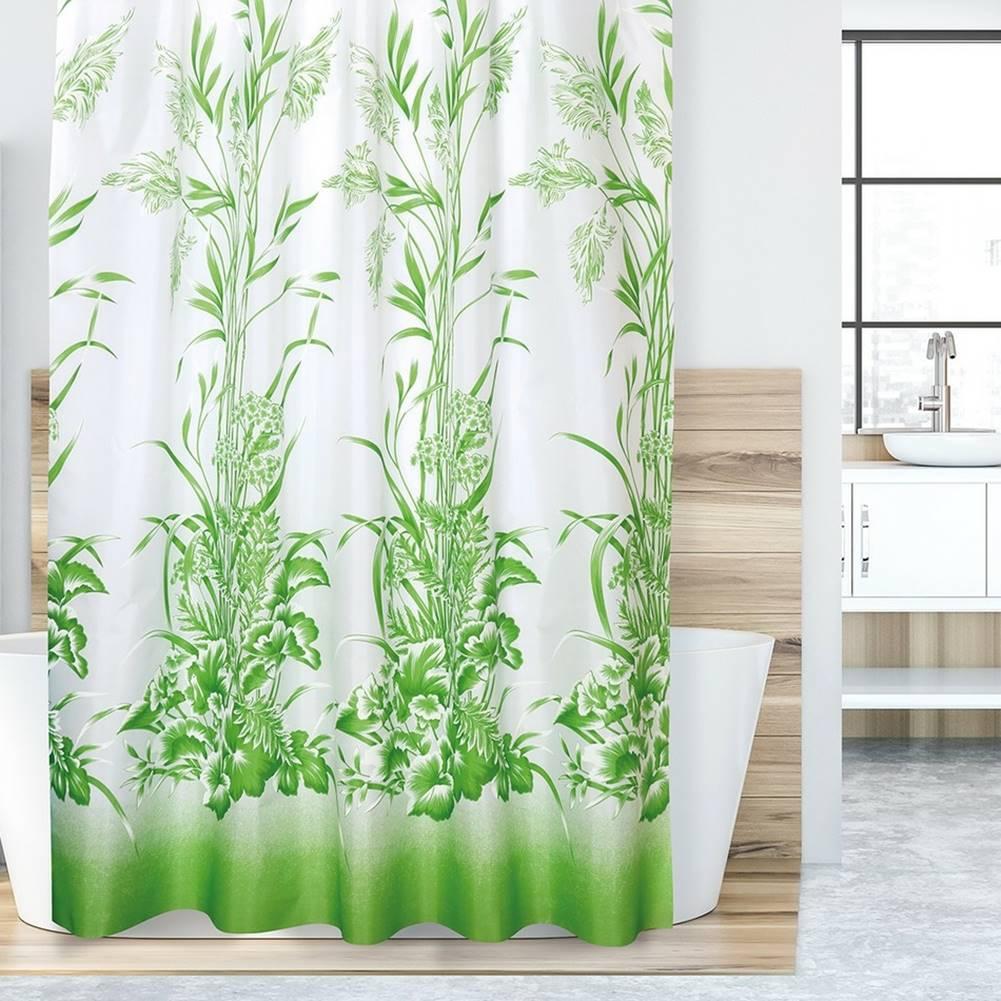 Bellatex Bellatex Sprchový záves Tráva zelená, 180 x 200 cm