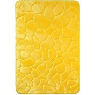 VOPI Kúpeľňová predložka s pamäťovou penou Kamene žlutá