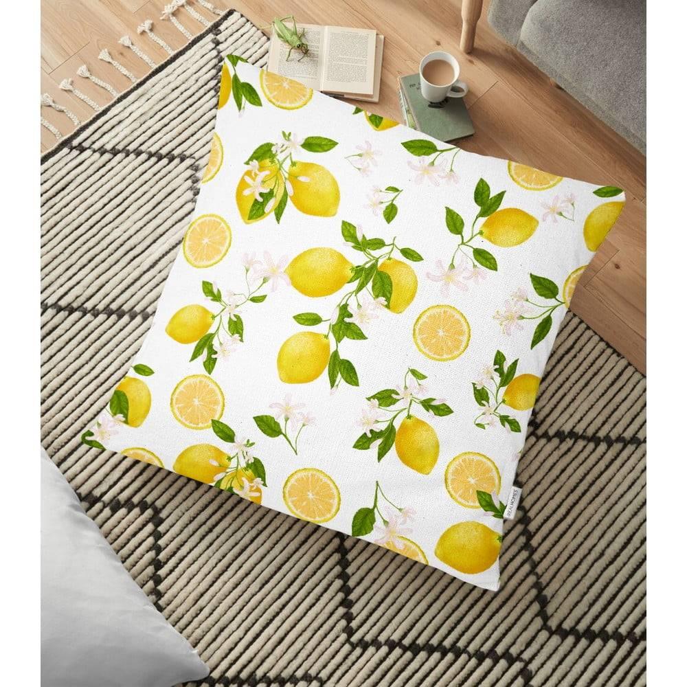 Minimalist Cushion Covers Obliečka na vankúš s prímesou bavlny Minimalist Cushion Covers Lemons, 70 x 70 cm