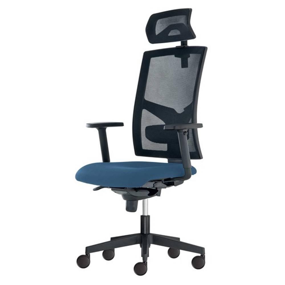 Sconto Kancelárska stolička PAIGE modrosivá