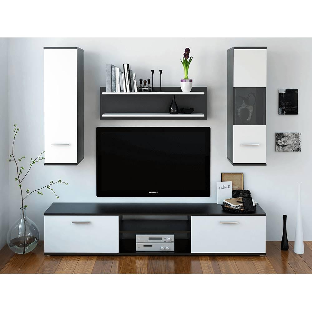 Tempo Kondela Obývacia stena čierna/biela WAW NEW