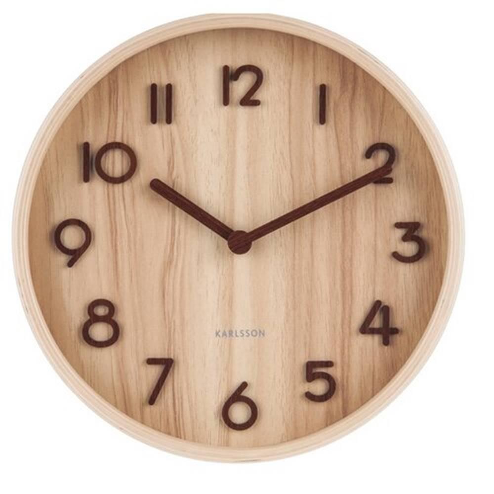 Karlsson Karlsson 5808WD Dizajnové nástenné hodiny pr. 22 cm