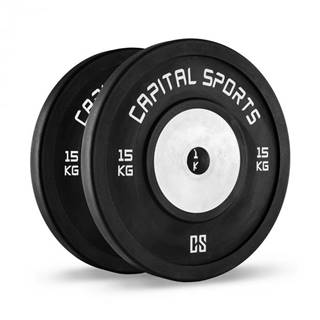 Capital Sports Inval, súťažné bumper kotúče, 50 mm, hliníkové jadro, 2 x 15 kg