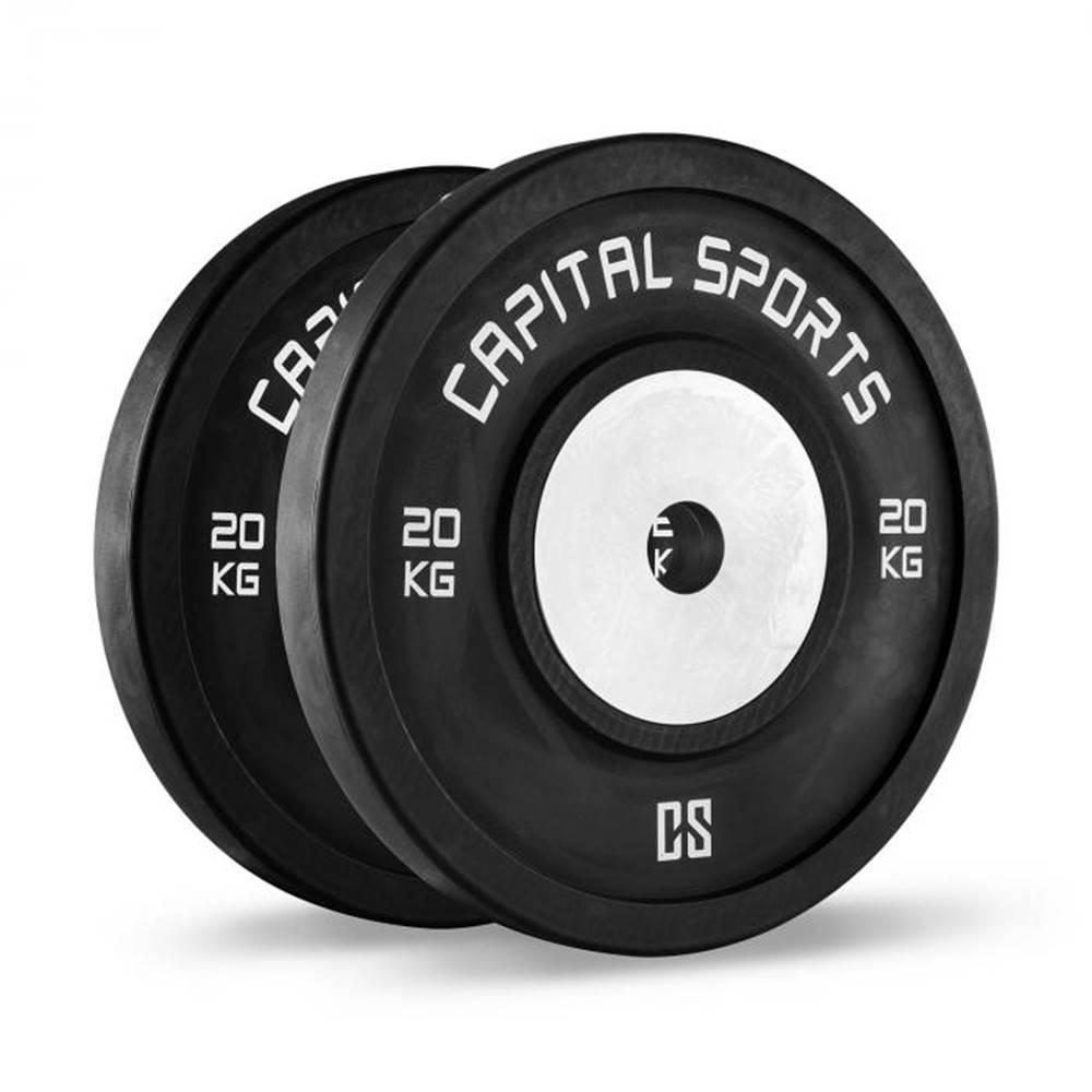 Capital Sports Capital Sports Inval, súťažné bumper kotúče, 50 mm, hliníkové jadro, 2 x 20 kg
