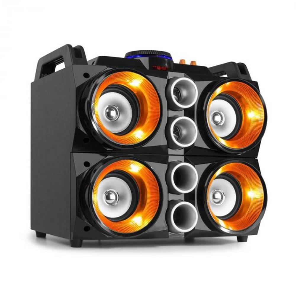 """Fenton Fenton MDJ200, párty stanica, 150W, 4x4"""" reproduktory, 2000mAh batéria, čierna/oranžová"""