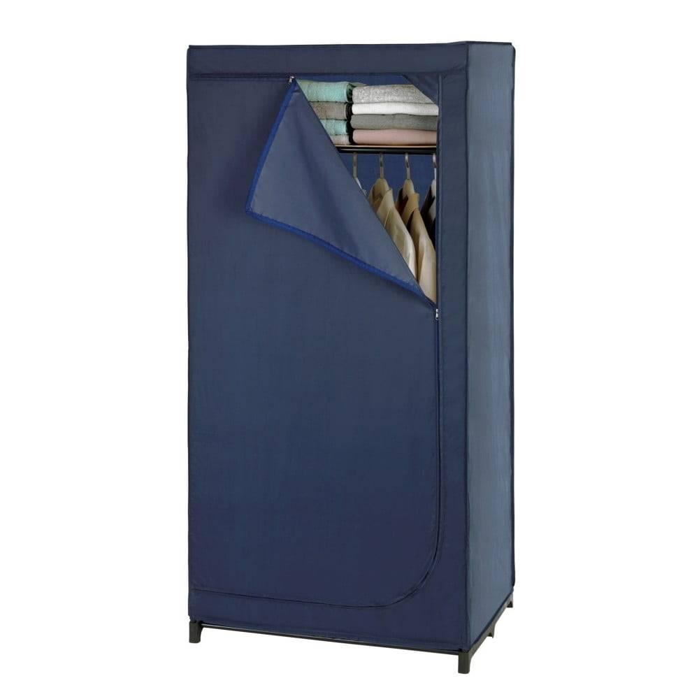 Wenko Modrá látková úložná skriňa Wenko Business, 160 x 50 x 90 cm
