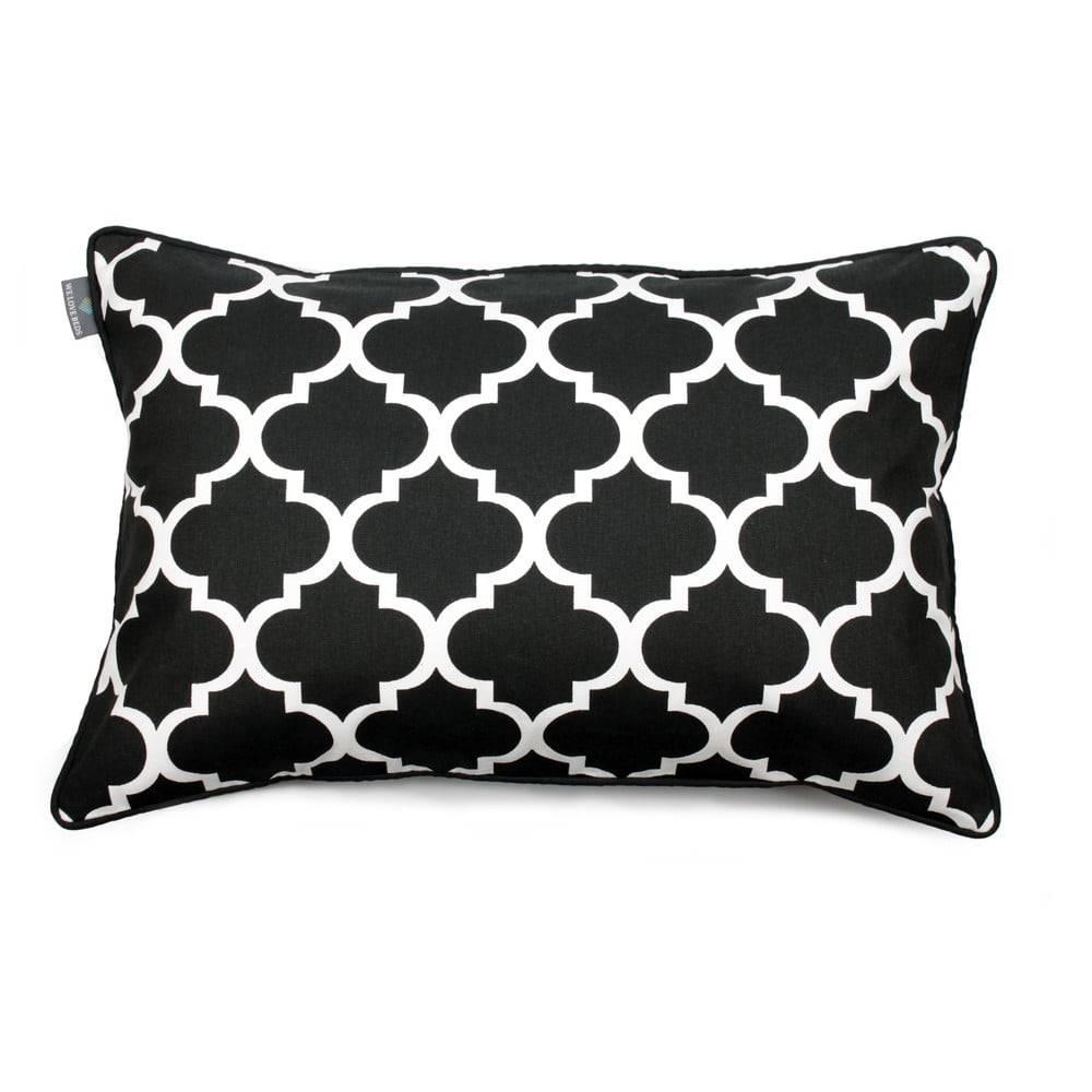 WeLoveBeds Čierno-biela obliečka na vankúš WeLoveBeds Clover, 40 × 60cm