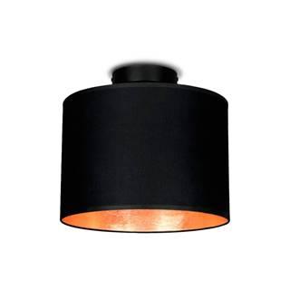 Čierne stropné svietidlo s detailom v medenej farbe Sotto Luce MIKA, Ø 25 cm