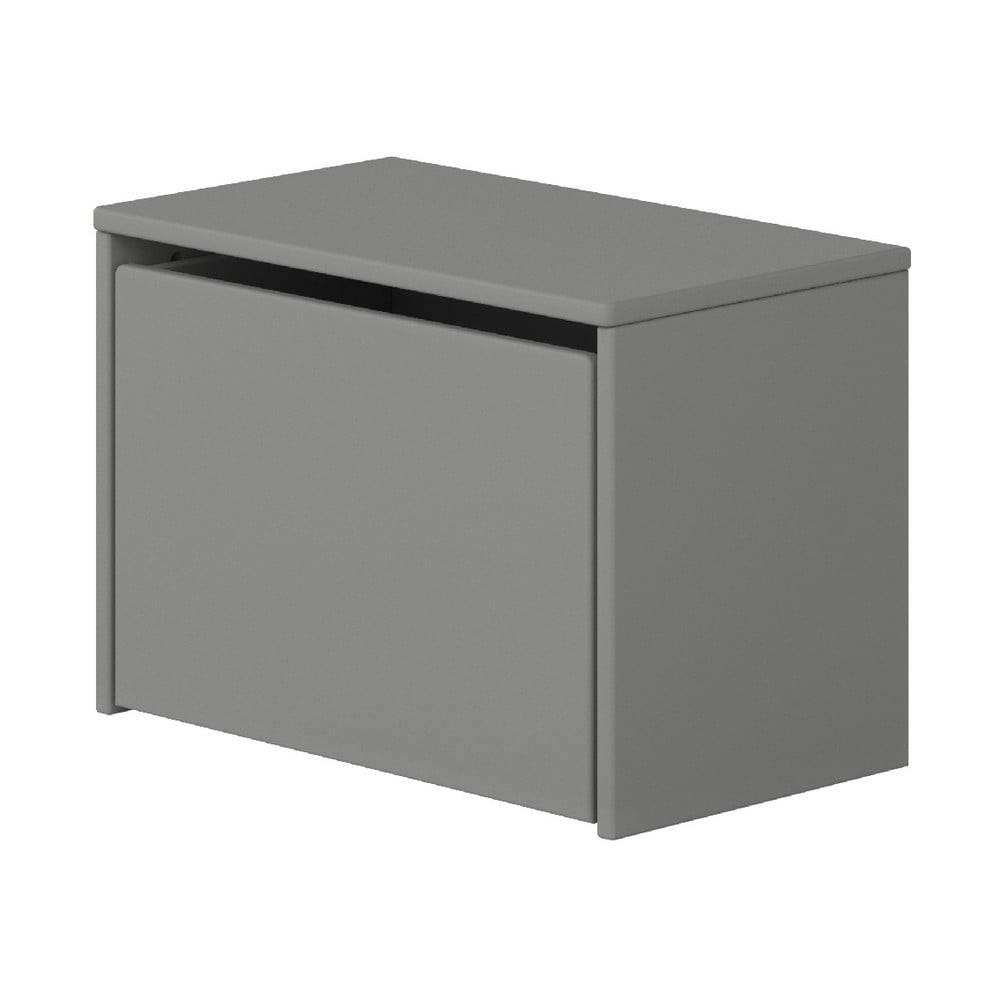 Flexa Sivá úložná lavica Flexa Dots