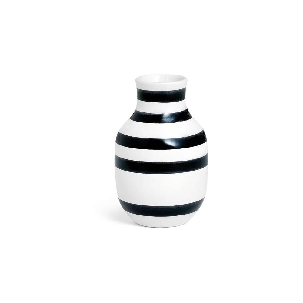 Kähler Design Čierno-biela kameninová váza Kähler Design Omaggio, výška 12,5 cm
