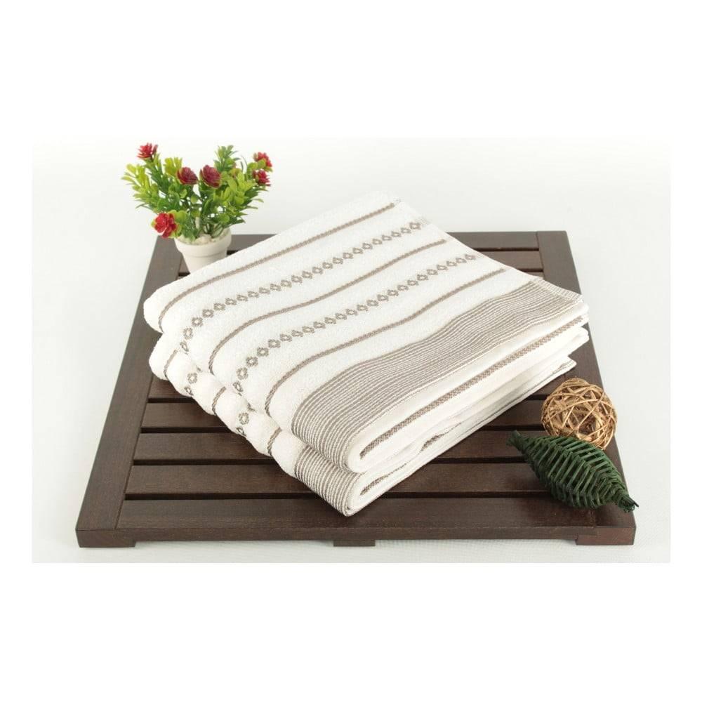 Şaheser Sada 2 krémových uterákov Patricia Bombeli, 50x90cm