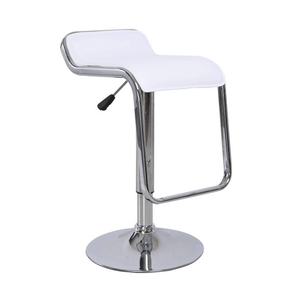 Tempo Kondela Barová stolička ekokoža biela/chróm ILANA NEW