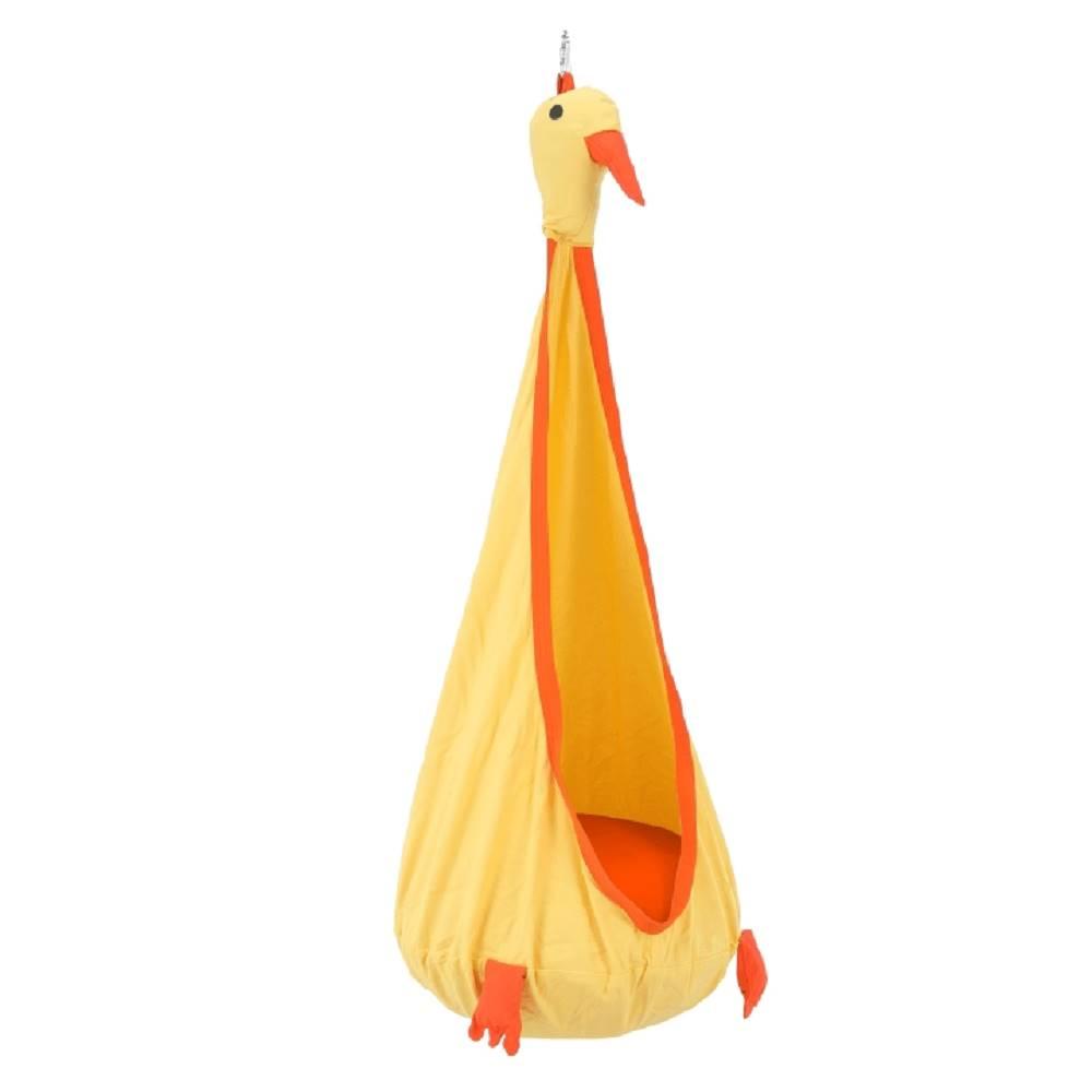 Tempo Kondela Závesné kreslo žltá/oranžová TOLO