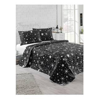 Set plédu na jednolôžko s obliečkou na vankúš Starry Night, 160 × 220 cm