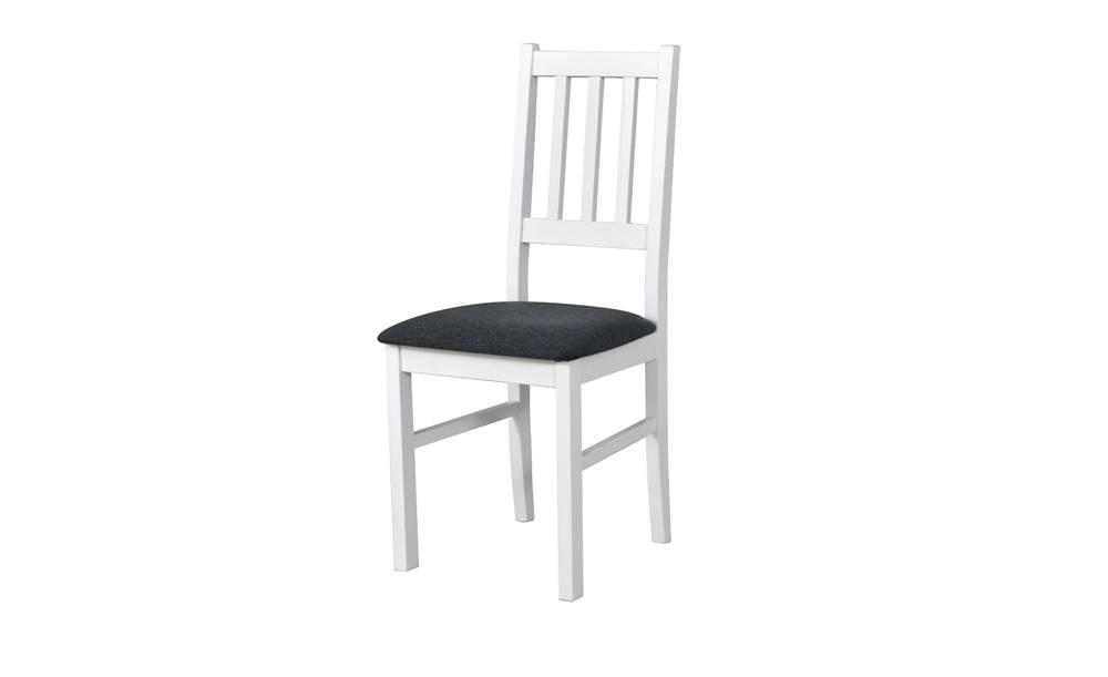 Sconto Jedálenská stolička BOLS biela/tmavosivá