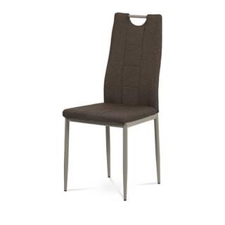 Jedálenská stolička AMINA hnedá/cappuccino