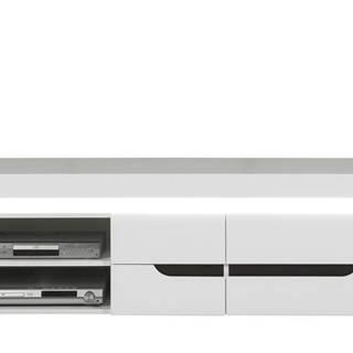 TV stolík IVONA biela vysoký lesk