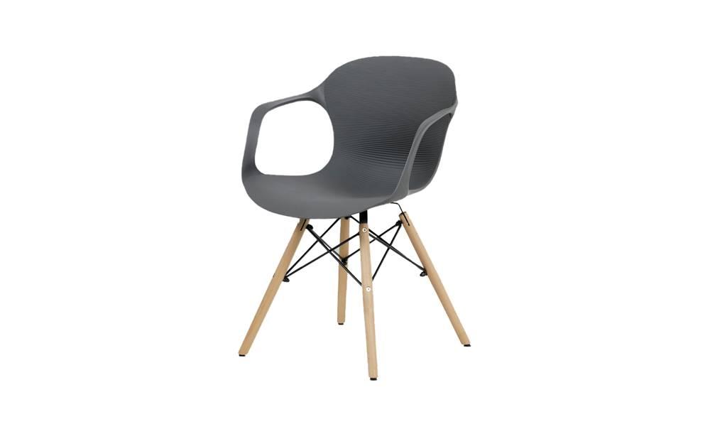 Sconto Jedálenská stolička DAGMAR sivá/buk